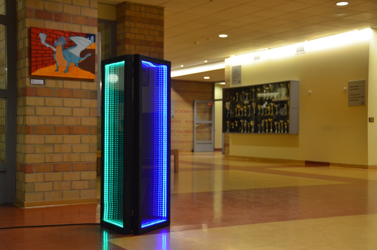An infinity mirror designed by ASW students