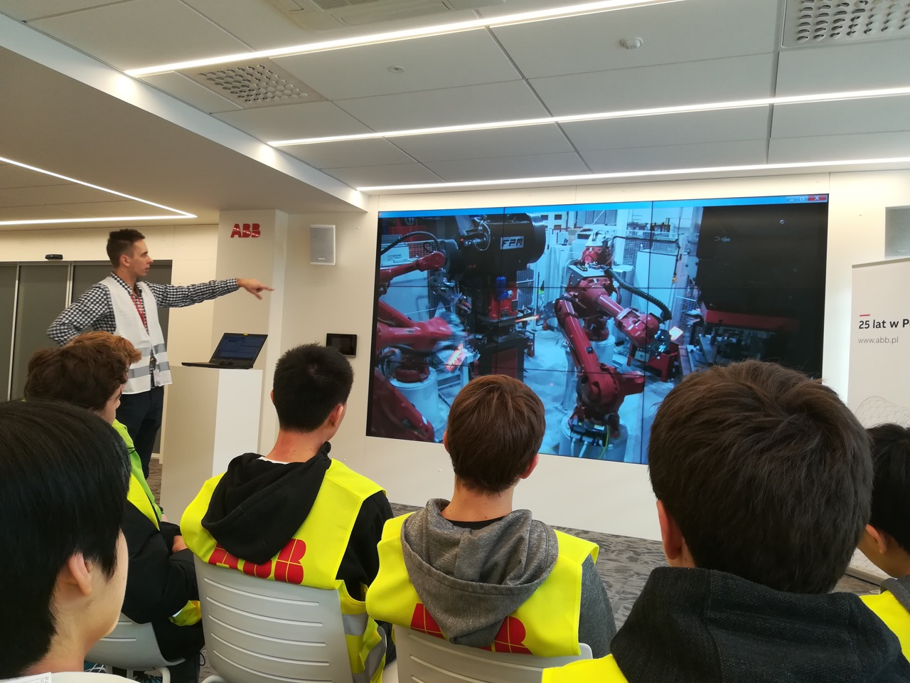 A presentation at ABB Robotics