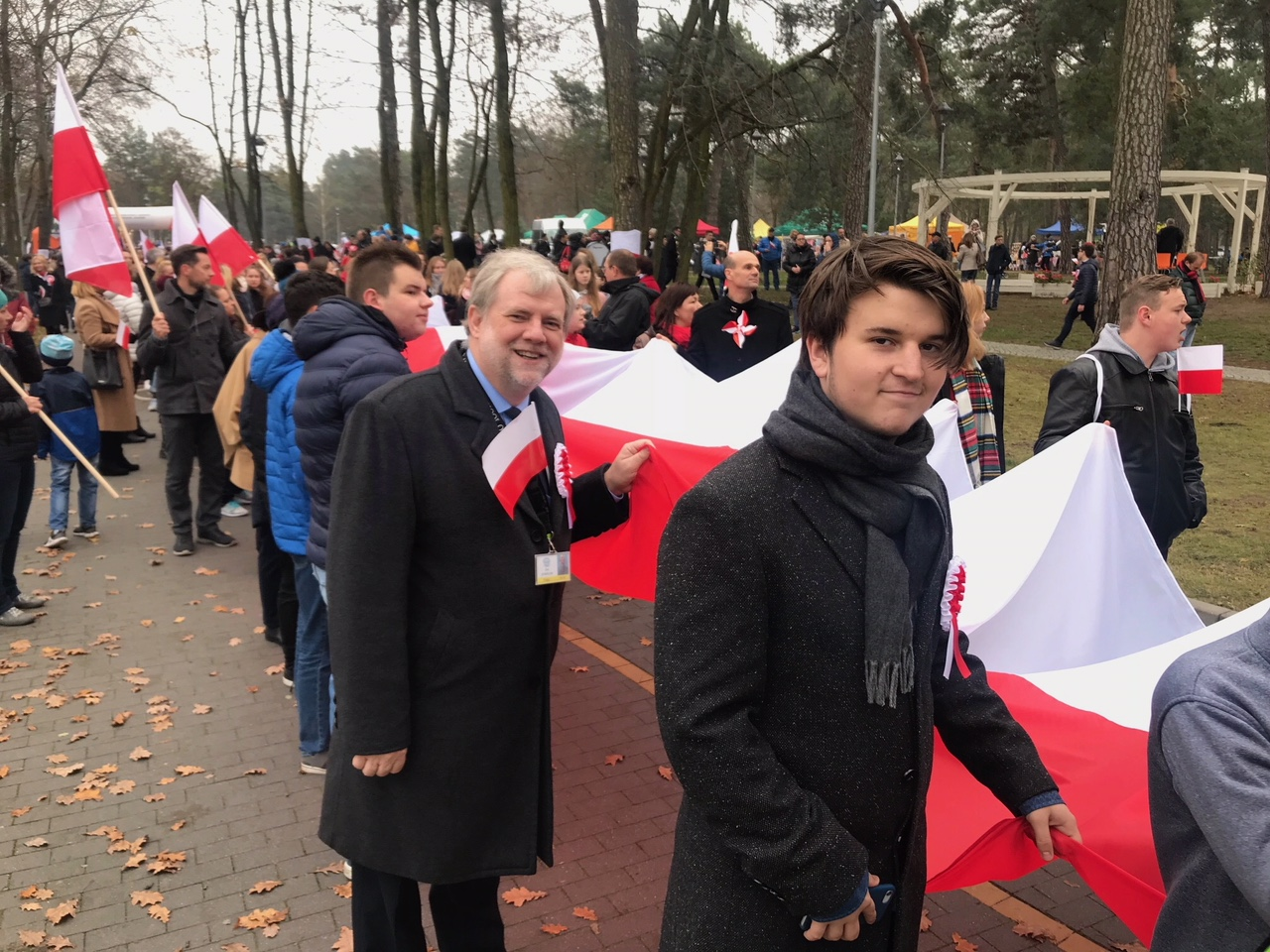 ASW Director of School Jon Zurfluh at an Independence Day ceremony in Warsaw