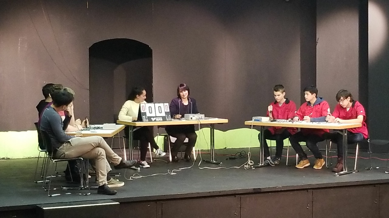 The ASW HS Knowledge Bowl team takes on a senior team in Vienna